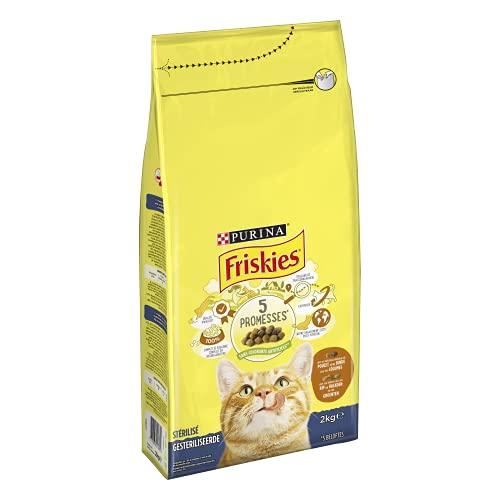 Purina Friskies Chat pour Chats Stérilisés à la Dinde et aux Légumes, 2kg