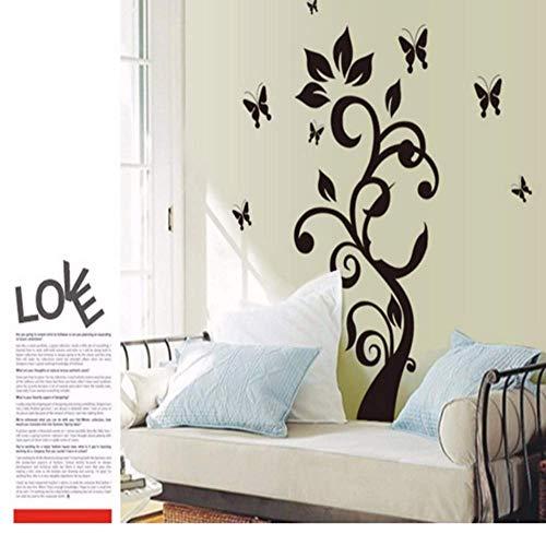 The New Black Butterfly Rattan Flower Sala De Estar Dormitorio Decoración Del Hogar Wall Stick Mobile Stick On The Wall