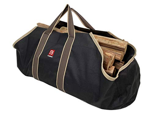 FireBeauty Large Canvas Log Tote Bag Firewood Log Carrier