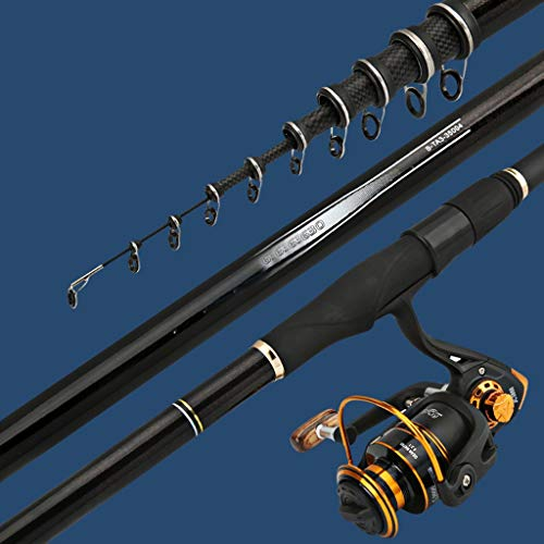 LJXLXY Fishing Rod Holder Telescopic Fishing Rod Rocky Rod Carbon Ultra-Light Super Hard Sea Rod Fishing Rod Sea Rod Throwing Rod Set Fishing Rod and Reel Combo (Size : 7.2 Meters)