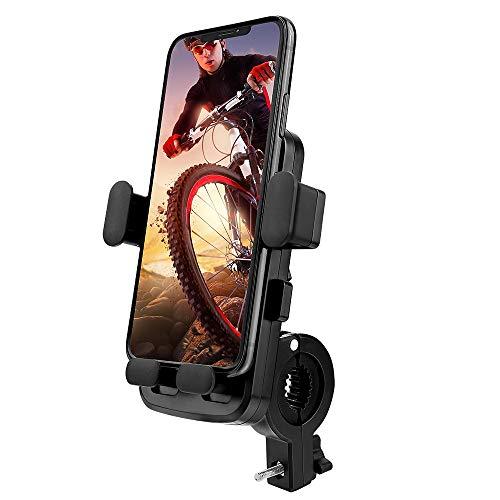 UIHOL Soporte Movil Bicicleta / Motocicleta, Universal Rotación 360° Soporte Manillar, Anti Vibración Porta Telefono para Bici y Moto con iPhone 11 Pro MAX/XS/XR, Samsung Huawei 4.5-7.0' Smartphone