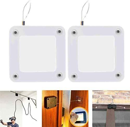 Lochfreier automatischer Sensortürschließer, automatischer Schiebetürantrieb, verstellbarer Federtürschließer aus Edelstahl, hydraulischer Türpuffer, Feder-Eisentür-Artefakt (Weiß)