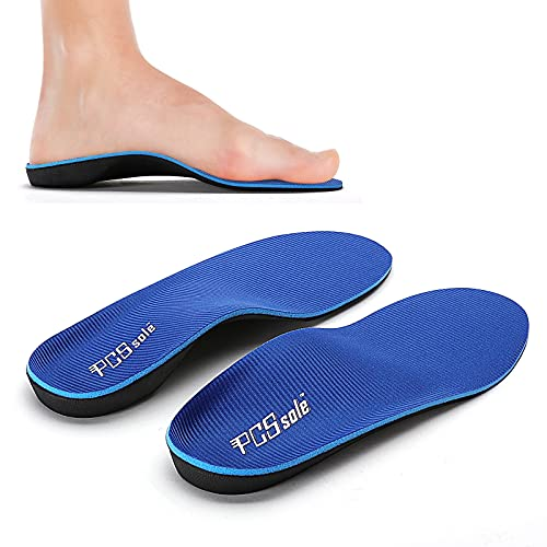 PCSSOLE High Arch Support Orthotic Insoles for Flat Feet  Plantar Fasciitis  Feet Pain Fallen Arches Semi-Custom Shoe Insert for Men and Women