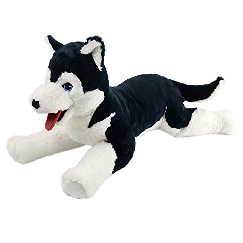Houwsbaby Large Plush Husky Stuffed Animal Soft Dog Puppy Toy Cuddly Alaskan Malamute Gift for Kids Boys Girls Pets Holiday Birthday, 27.5'' (Husky)