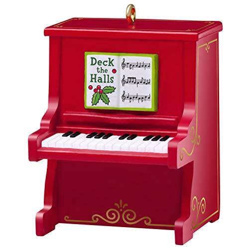 Hallmark Keepsake Christmas Ornament 2019 Year Dated Pint-Sized Musical Miniature, (Plays Deck The Halls Song), 1.37', Mini Piano