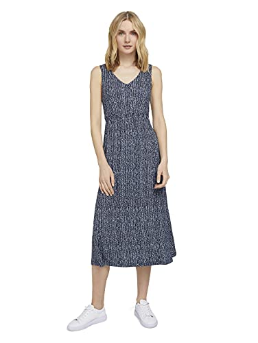 TOM TAILOR Damen 1025887 Feminine Kleid, 27424-Blue Minimal Design, 42