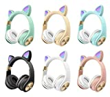 Smithies Cat Ear Wireless Headphone with in Built Mic, Bluetooth and a Wired Option for Kids, for Students and for Young Adults.