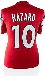 Autographed Eden Hazard Jersey - Lille OSC Shirt 2011 2012 Number 10 - Autographed Soccer Jerseys