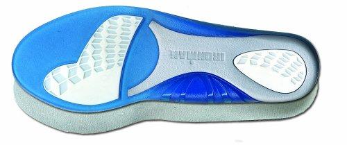 Spenco Ironman - Plantillas gel, tamaño 40 - 42, color azul / gris / blanco