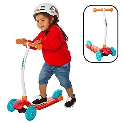 YBIKE Kids GLX Cruze 3-Wheel Kick Scooter, Orange
