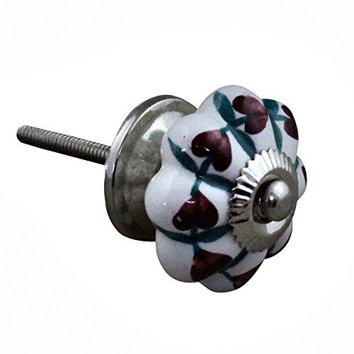RoyaltyRoute Antico Porta manopole in Ceramica Vintage Shabby Chic cassetto Tirare Maniglie per la casa Decor