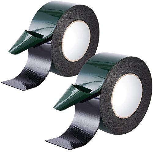 Doppelseitiges Klebeband Extra Stark, Universal Montageband aus widerstandsfähigem PE-Schaum, Schwarzes Doppelseitiges Klebeband Schwarz Schaumstoff Montageband (50mm)