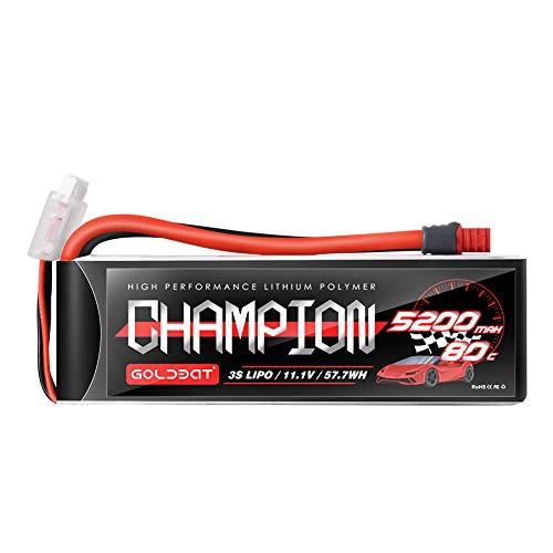 GOLDBAT Champ Series RC Batterie 5200 mAh 11.1 V 3S 80C LiPo Batterie Akku Pack Soft Pack mit Deans Stecker für RC Auto Boot LKW Heli Flugzeug
