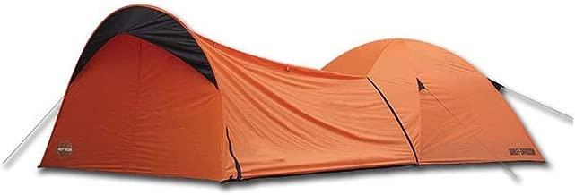 HARLEY-DAVIDSON Dome Tent w/Vestibule Motorcycle Storage, Orange HDL-10010A