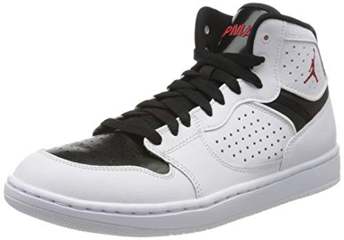 Nike Herren Jordan Access Running Shoe, Weiss/Gym Red-Schwarz, 42.5 EU