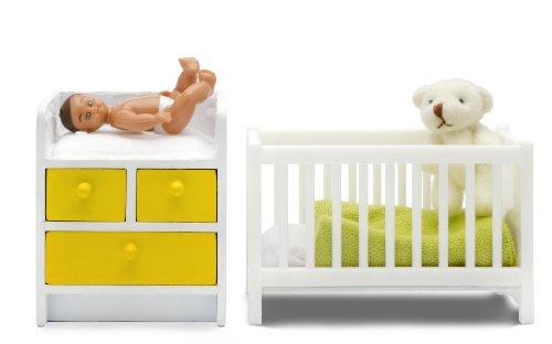 Lundby 60.9031.00 Stockholm - Cuna y cambiador para casa de muñecas , color/modelo surtido