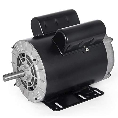 Mophorn Electric Motor 3 HP Single Phase Motor 3450 RPM 60Hz AC Motor 56 Frame SPL Air Compressor Motor AC 115/230V Rot-CCW Suit for Agricultural Machinery and General Equipment