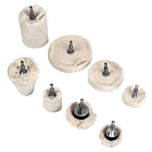 Tuneway 8Pcs Polishing Wheel Polishing Disc for Drill Polishing Attachment Rim Polishing Attachment Drill Polishing Buffing Pad