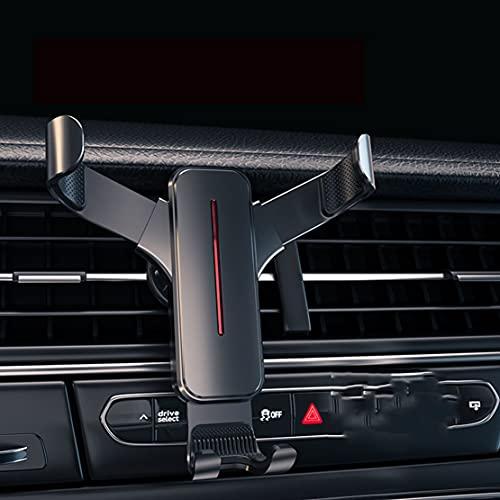 Soporte De Ventosa TelescóPico De Metal Para AutomóVil, NavegacióN Gravedad De Salida De Aire De Aire Acondicionado Soporte A PresióN,Para Volvo C30 S40 S60 S80 V40 V70 Xc60 Xc70 Xc90