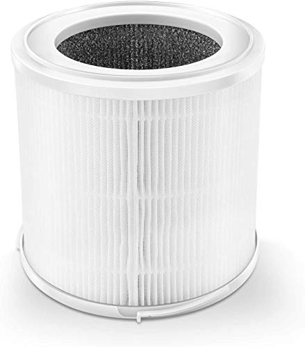 ASLOTUS KJ130 HEPA Air Filter Replacement Filter, 3-in-1 Filtration Include Pre-Filter, True HEPA Filter, Activated Carbon Filter