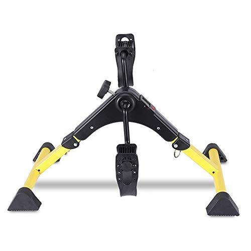 NFJ Mini Bicicleta Estáticas Plegable,máquinas De Brazos Y Piernas Entrenamiento Resistencia Ajustable,Pedales Estaticos,con Monitor LCD, para Y Hombres Mujeres Oficina En Casa Bike,E