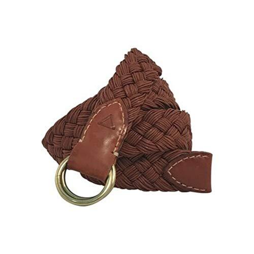 Leyva - Cinturón de hombre piel y algodón en color coñac (90...