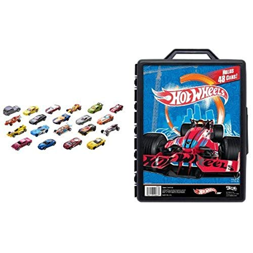 Hot Wheels 20 Car Gift Pack and Molded 48 Car Case Hawaii