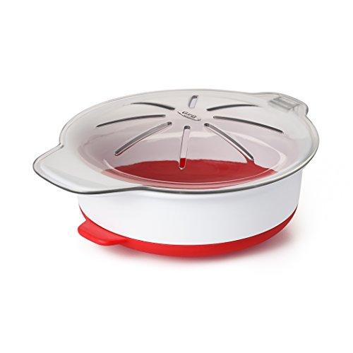 OXO - Good Grips Microwave Egg Cooker Eierzubereiter für die Mikrowelle, Kunststoff, rot, 36.06 x 13.71 x 18.29 cm