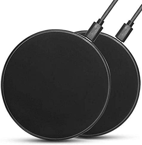 Fast Wireless Charger,2Pcs 10W/7.5W/5W S6/S7/S8/S9/S10/S20 Note