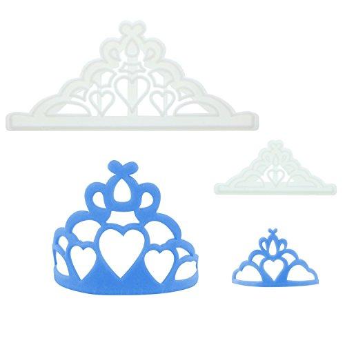 FMM Sugarcraft Ausstecher-Set Tiara / Diadem jeweils groß und klein | Prinzessin | Königin | Tortendeko | für Fondant und Blütenpaste