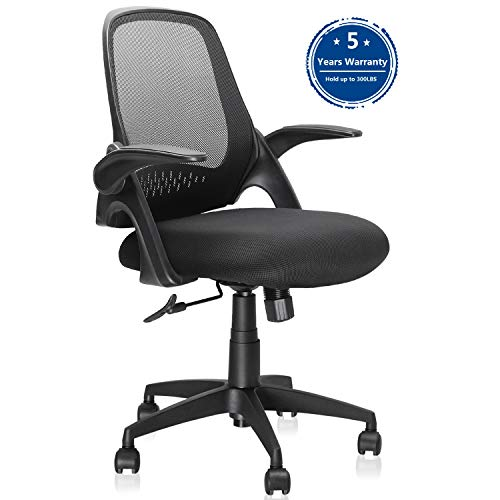 Ergousit Mid-Back Mesh Office Chair, Ergonomic Desk Chairs Swivel Computer Task Chairs with...