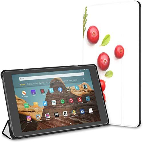 Estuche para Tableta Cranberry Fire HD 10 de Color Rojo Brillante(9a/7a generación,versión 2019/2017) Estuche Fire HD 10 Estuche Divertido para Tableta Kindle Fire HD 10 Auto Wake/Sleep