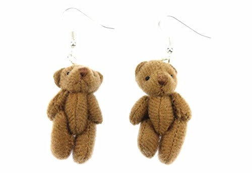Teddy Ohrringe Hänger Miniblings Teddybär Bär Teddyohrringe Plüsch braun