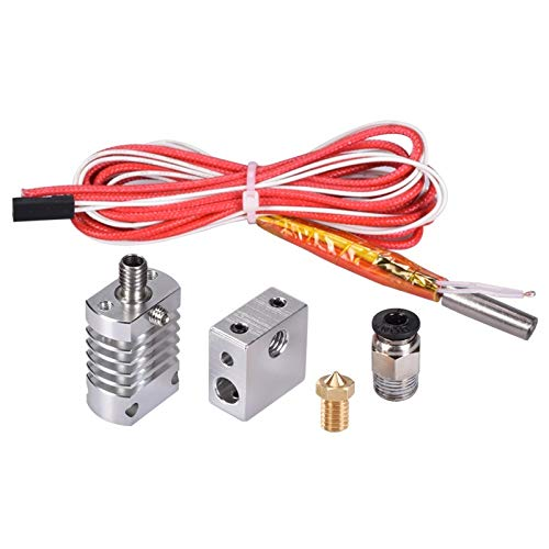 WANGZHI. Alle Metall Hotend Filament Extruder Kit CR10 for V6 1.75/3.0MM Extruder 0,4 Düse 3D-Drucker Teil (Color : Kostenlos, Size : All Metal Red)
