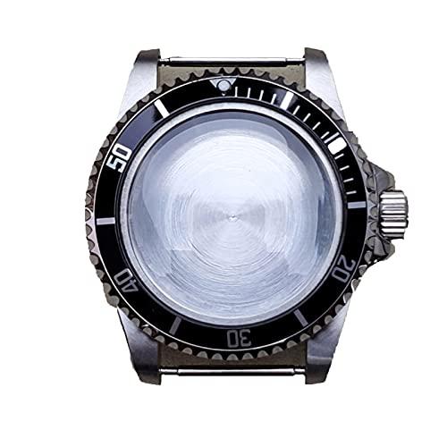 SHEAWA 39.5mm de acero inoxidable reloj caso reemplazo para NH35 NH36 reloj movimiento reparación parte accesorios