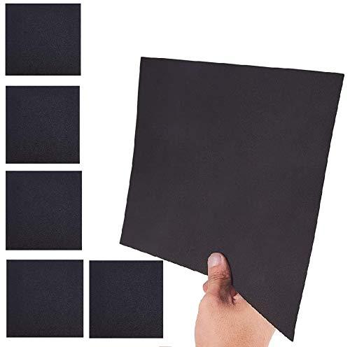 Filz-Klebefolie für Möbel, selbstklebend, für Stuhl- und Tischbeine, Filz, selbstklebend, Samt, selbstklebend, Schwarz
