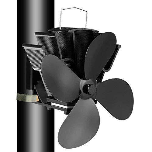 T-XYD Heizofen Lüfter Wandkaminventilator mit 4 Klingen Automatikbetrieb wärmegetrieben ohne Strom für das Verbrennen von Holzgaspellets