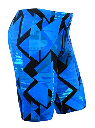 Size 24 to 30 Swimming Jammer Shorts for Boys in Blue Green Red and Black Flow Ignite Swim Jammers