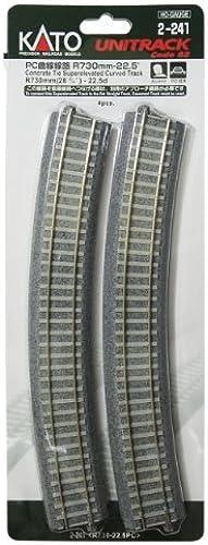 Cato R730-22.5 Ho Gauge 2-241 Ho unitrack PC Curve Line (4 Pieces) (Japan Import)