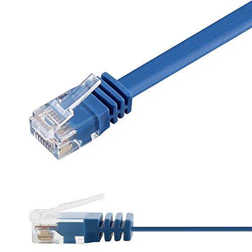 Ligawo 1014152.0 Patchkabel Netzwerkkabel Cat6 Flexibel Slim Design Flachkabel (1,5m) blau