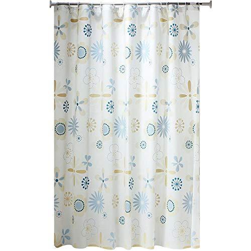 ZhHaoXin Home Duschvorhang PEVA, Wasserdicht Anti Schimmel, PVC-frei Umweltfreundlich Duschvorhang, Bad Vorhang für Badezimmer Badewanne, 180 * 180