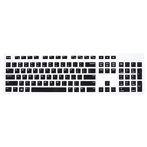 ULTECHNOVO Silicone Keyboard Cover Skin Anti-dust Soft Keyboard Protector Compatible for Dell KB216 Wired Keyboard(Black)