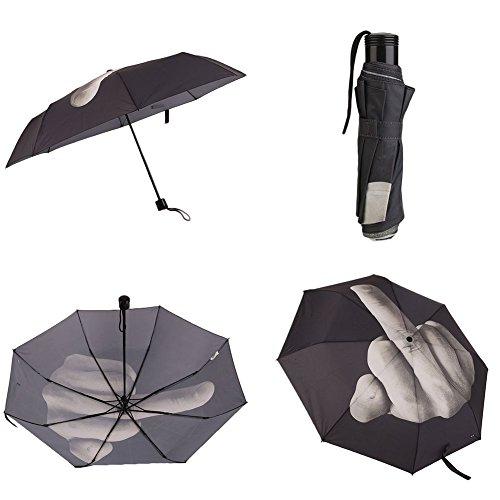 Kicode Paraguas Creative Fuck Rain plegable El gesto