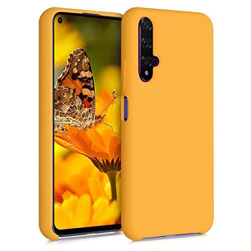 kwmobile Custodia Compatibile con Huawei Nova 5T - Cover in Silicone TPU - Back Case per Smartphone - Protezione Gommata Giallo Zafferano