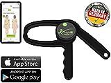 eaglefit Bluetooth Adipómetro, Plicómetro digital para medir la grasa corporal con aplicación, caliper medidor de grasa corporal en forma de pinza