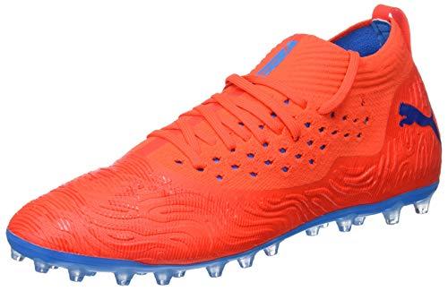 PUMA Herren Future 19.2 Netfit MG Fußballschuhe, Rot (Red Blast-Bleu Azur), 43 EU