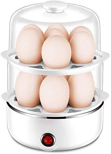Eierkocher, Multi-Funktions-große Kapazität, 2 Ebene trennbare Eierkocher mit automatischer Abschaltfunktion Startseite Mini Frühstück Eierkochern, weiß, blau QIANGQIANG (Color : White)