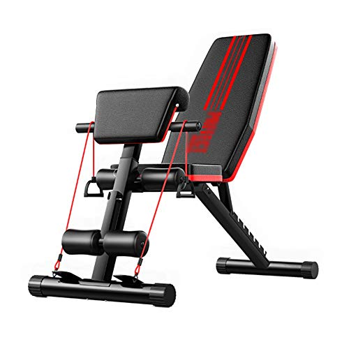 ZXQZ Trainingsbank Flachbank, Verstellbare Fliegen-Vogel-Bank zum Gewerbe Fitness Multifunktionssport Stuhl Pastor Stuhl Roman Chair hantelbank klappbar (Color : Blue)