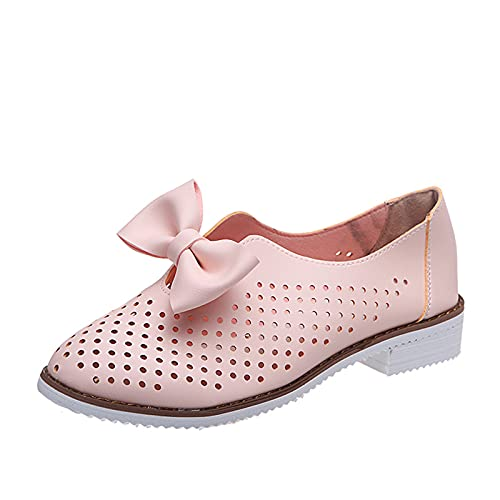 CYGGA Mary Jane Schuhe Retro Sweet Bow-Knot Lolita Schuhe mit niedrigem Blockabsatzrutschfeste atmungsaktive Runder Zeh Sandalen mit geschlossenen Zehen für Party