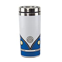 "THROWBACK: ""GROOVY!"" A retro and fab new design for your hippie at heart. This wicked VW travel mug is of course inspired by the one and only iconic VW Campervan (also known as the VW Bus). GREAT RETRO GIFT: Whether you're a collector of Volkswagens,..."